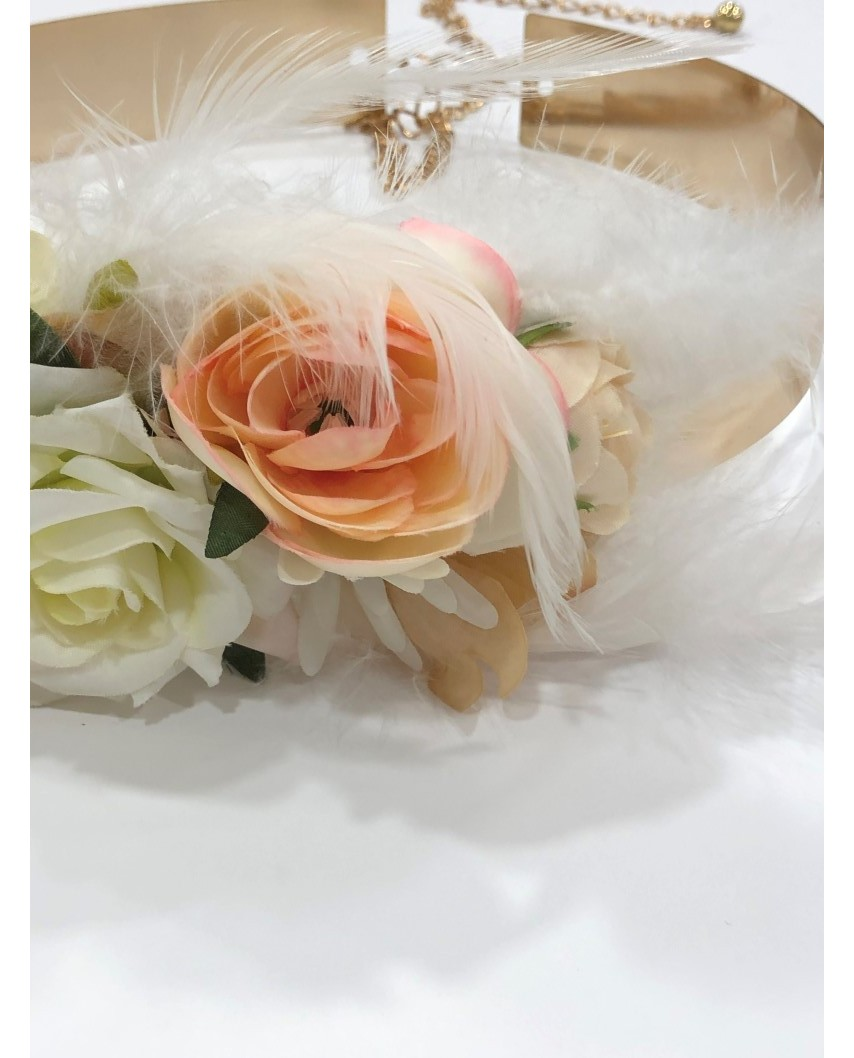 kokodol.com - Cinturón Latón Flores Irina blanco