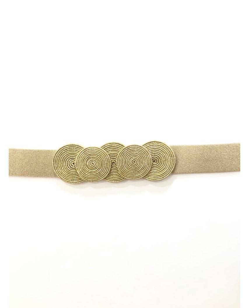 kokodol.com - Cinturón Brillo Círculos dorado