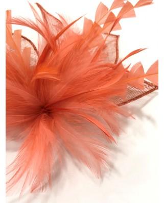 kokodol.com - Tocado Plumas coral