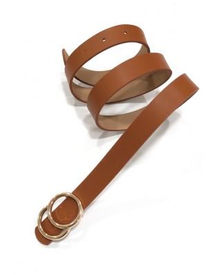 kokodol.com - Cinturón Hebilla Círculos Mini marrón