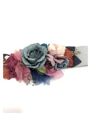 kokodol.com - Cinturón Flores Nikole azul