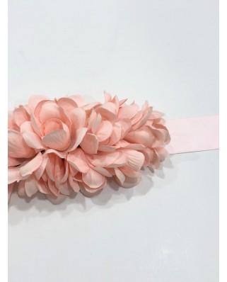 kokodol.com - Cinturón Flores Lazo rosa