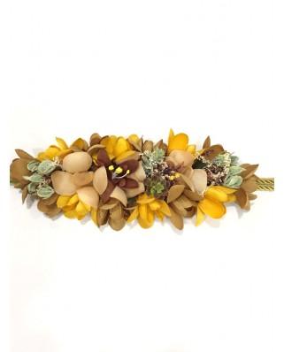 kokodol.com - Cinturón Flores Cordón Giorgia mostaza