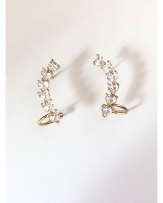 kokodol.com - Pendientes Earcuff Heart dorado