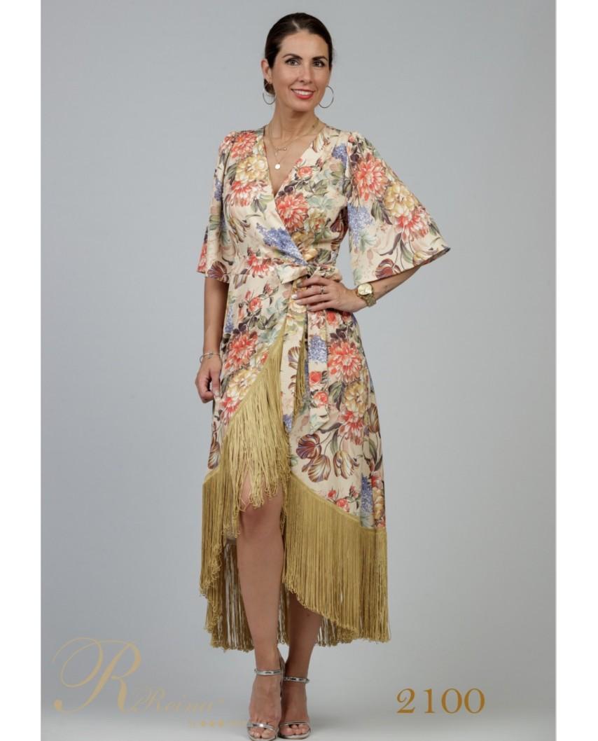 kokodol.com - Vestido Flecos Estampado