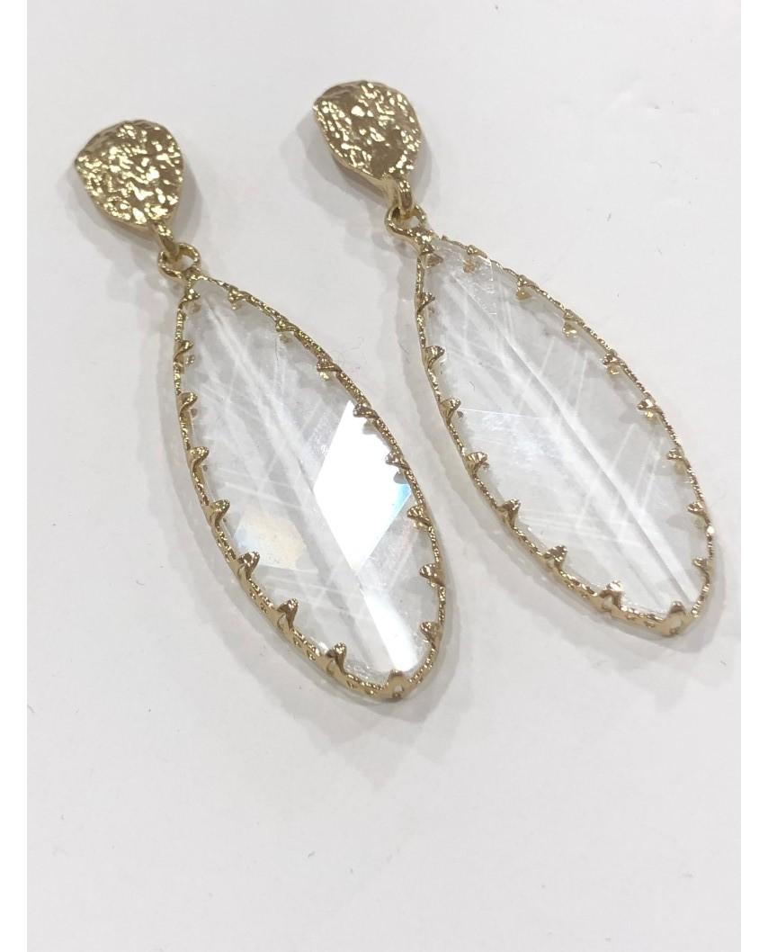 kokodol.com - Pendientes Cristal Vieor dorado