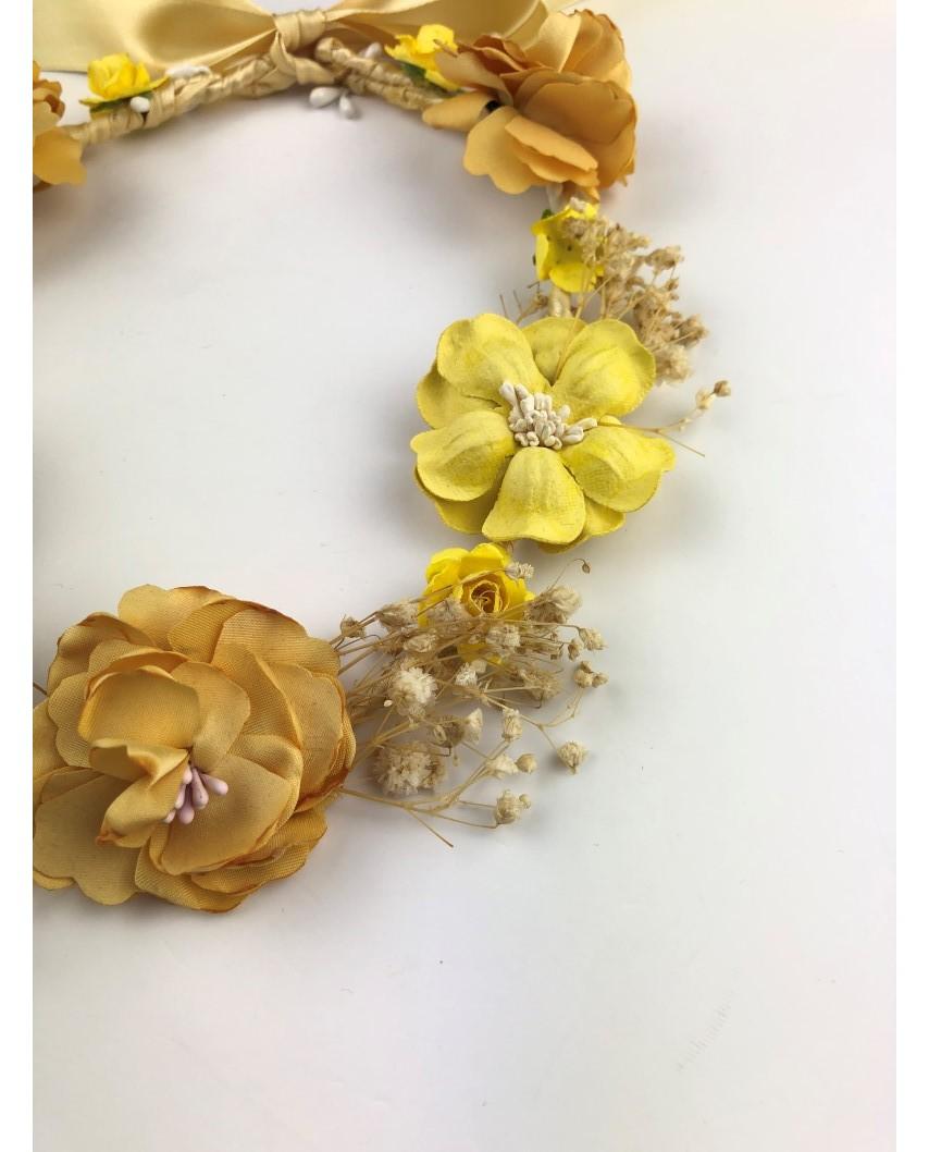 kokodol.com - Diadema Corona Flores Roman amarillo