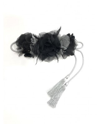 kokodol.com - Cinturón Flores Cordón Sansa negro