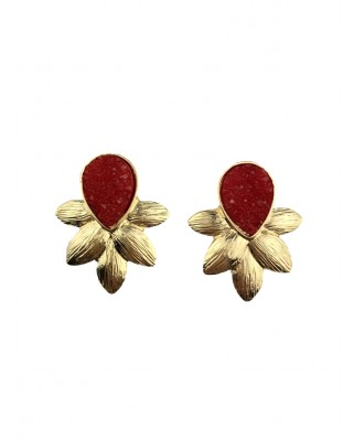 kokodol.com - Pendientes Lyana rojo