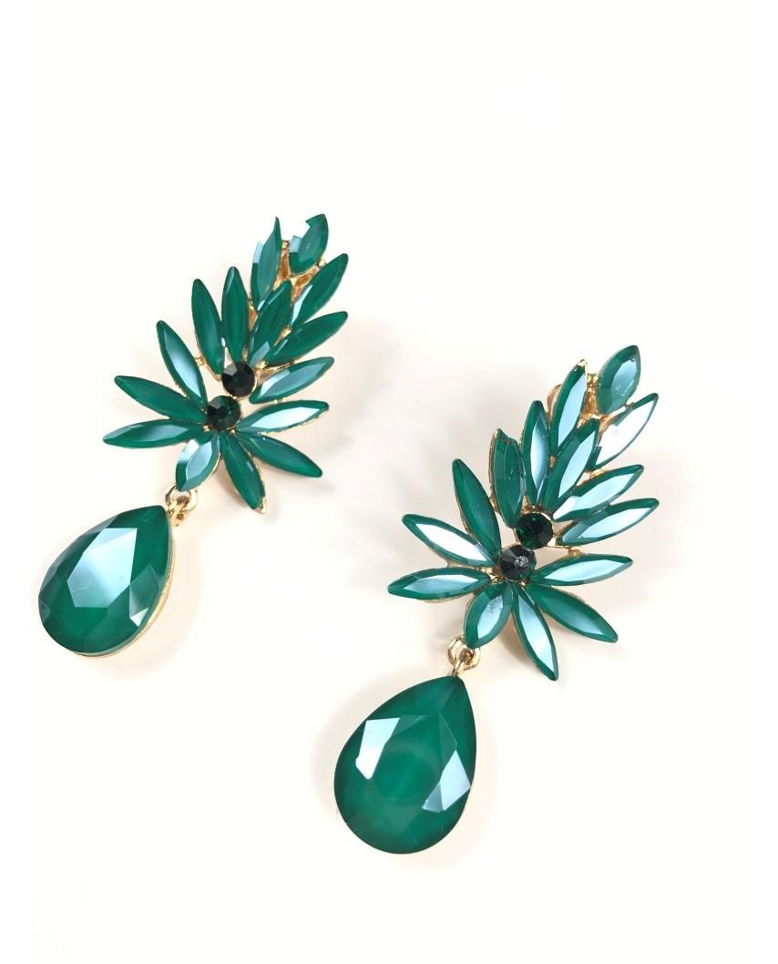 kokodol.com - Pendientes Fiore (clip) verde