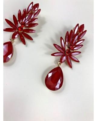 kokodol.com - Pendientes Fiore (clip) rojo