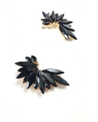 kokodol.com - Pendientes Flora negro