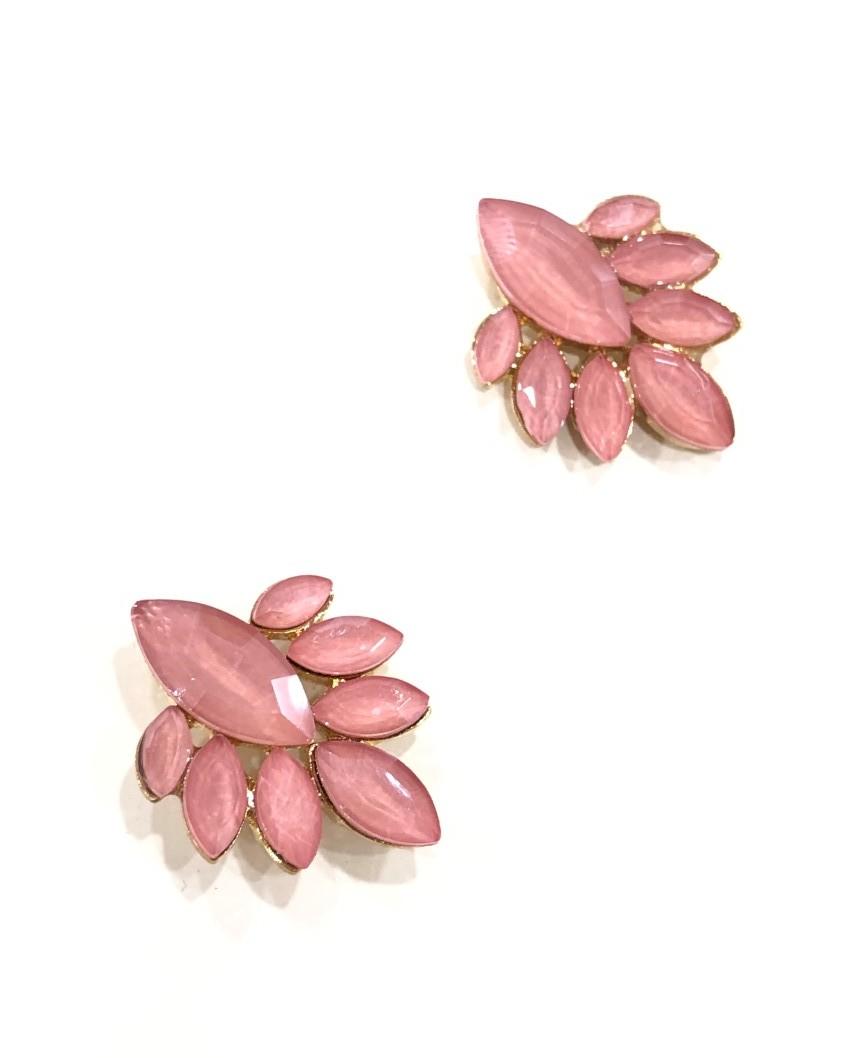 kokodol.com - Pendientes Botón Flor rosa