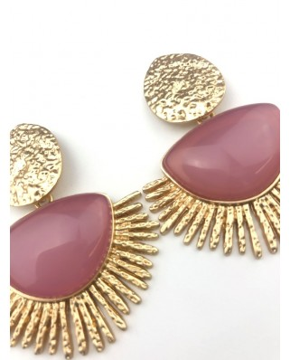 kokodol.com - Pendientes Maxi Stone rosa