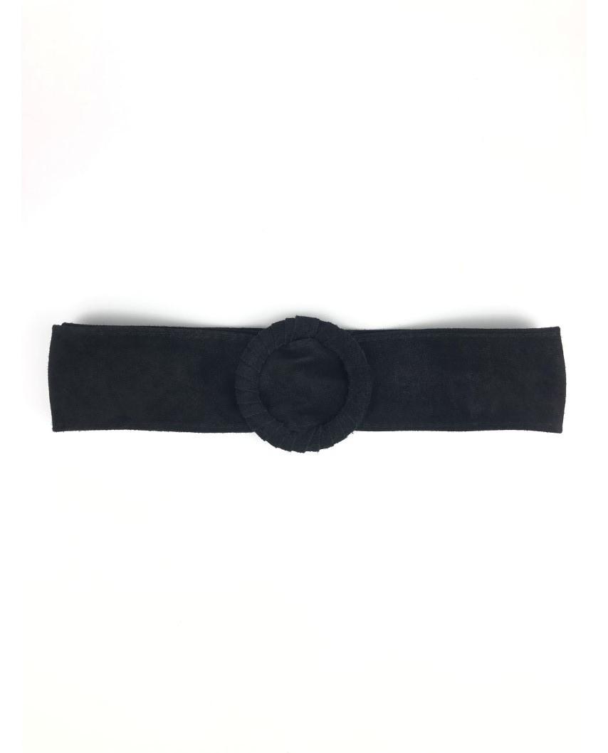 kokodol.com - Cinturón Ante Hebilla Redonda negro