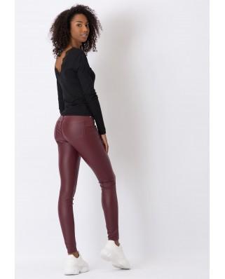 kokodol.com - Jeans Lauren Ecopiel burdeos