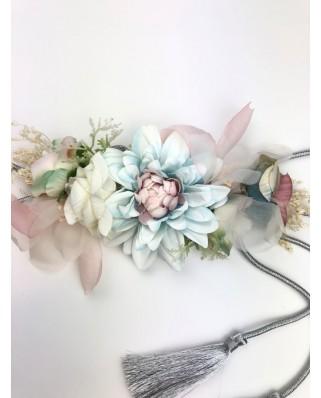 kokodol.com - Cinturón Cordón Flores Karenina azul
