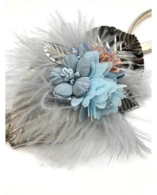 kokodol.com - Cinturón Flores Plumas Witny azul