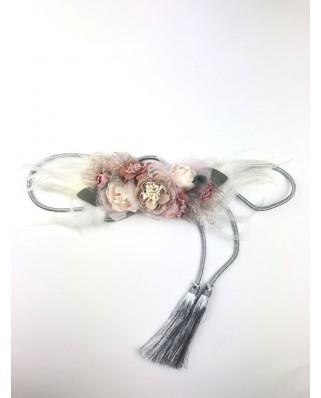 kokodol.com - Cinturón Flores Plumas Karly nude